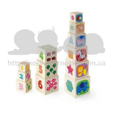Развивающие деревянные Кубики