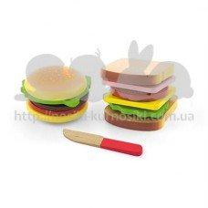 Игровой набор Гамбургер и сэндвич