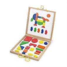 Набор магнитных блоков Viga toys Форма и Цвет