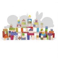 Набор строительных блоков 100 шт