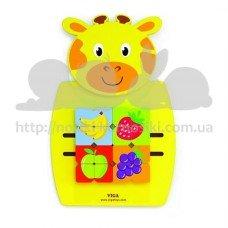 Развивающая игрушка бизиборд Жираф с фруктами