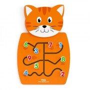 Развивающая игрушка бизиборд Кот с цифрами