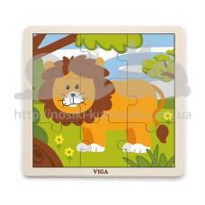 Пазл деревянный Лев