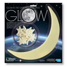 Игровой набор 4M Светящиеся наклейки Луна и звезды 13 шт