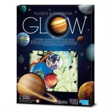 Игровой набор 4M Светящиеся наклейки Планеты и 100 звезд