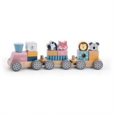 Игрушка PolarB Поезд с животными