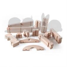 Набор гигантских стройблоков Block Play 89 шт