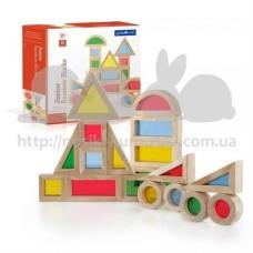 Набор уменьшенных блоков Block Play Маленькая радуга 20 шт