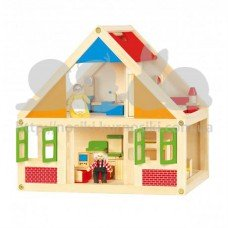 Домик для кукол деревянный
