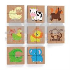 Магнитный пазл Viga Toys Животные 32 эл 50722