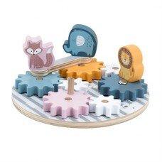 Игровой набор Viga Toys PolarB Шестеренки и животные 44006