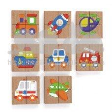 Магнитный пазл Viga Toys Транспорт 32 эл 50723