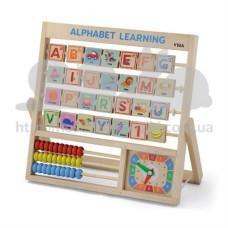 Набор для обучения Viga Toys Алфавит и часы 50033