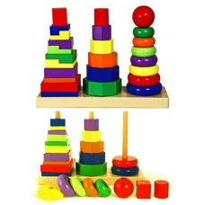 Игрушка развивающая Пирамидка деревянная