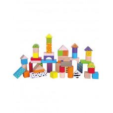 Набор кубиков деревянных 50 шт