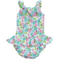 Детский купальник-подгузник I Play Light Aqua Paradise Flower 12мес