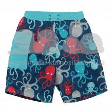 Шорты-подгузник для плавания I Play Navy Octopus 6мес