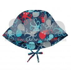 Солнцезащитная панамка I Play Navy Octopus 9-18 мес
