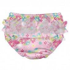 Подгузник-трусики для плавання I Play Light Pink Dragonfly Floral 6 мес