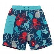 Шорты-подгузник для плавания I Play Navy Octopus 12мес