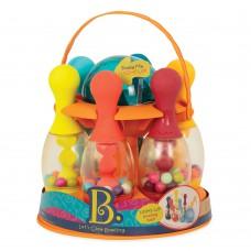 Игровой набор Сверкающий Боулинг Battat 6 кеглей шар подставка BX1640Z