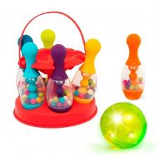 Игровой набор Сверкающий Боулинг Battat красный 6 кеглей шар подставка BX1955
