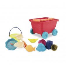 Игрушка для песочницы и пляжа Battat Тележка Манго и 11 игрушек BX1594Z
