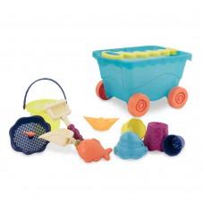 Игрушка для песочницы и пляжа Battat Тележка Море и 11 игрушек BX1596Z