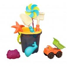 Игрушка для песочницы и пляжа Battat Ведерко Море 9 предметов BX1330Z