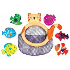 Игрушка для ванной Сачок Кошка Ми-Ми с рыбками