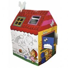 Детский игровой домик Веселый дом размеры 90x120x80 см
