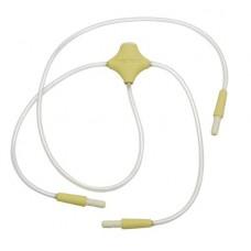 Силиконовый капилляр патрубок для молокоотсоса Medela с регулятором на 2 груди