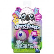 Игровой набор гнездо и 2 коллекционные фигурки в яйцах Hatchimals