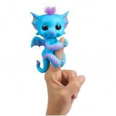 Интерактивная игрушка Дракончик на палец Fingerlings темно синий