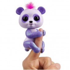 Интерактивная игрушка Панда на палец Fingerlings фиолетовая
