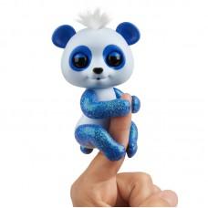 Интерактивная игрушка Панда на палец Fingerlings синяя