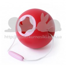 Ведерко для игры с песком сфера Ballo вишневый Quut